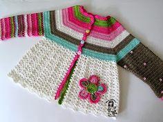 Free Crochet Pattern: Flower Cardigan for Baby