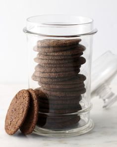 Chewy Chocolate Ginger-Molasses Cookies - Martha Stewart Recipes.  These are so good - even better after they sit for a couple days.