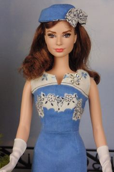 Chambray Blue for Silkstone Barbies