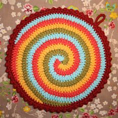 espiral a cuatro colores