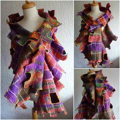 art felt, nuno felt, felt shawlsscarf