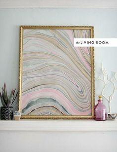 Marbleized artwork