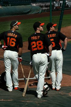 Angel Pagan, Buster Posey, Ryan Theriot - Look so dapper hahaha