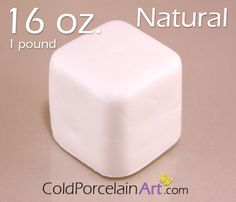 Cold Porcelain Clay 16oz. by ColdPorcelainArt. www.etsy.com/shop/ColdPorcelainArt  #crafts, #clayflowers, #porcelanafria, #art