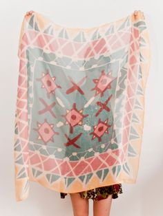 Embroidery Print Scarf by leahgoren on Etsy