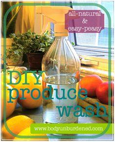 DIY produce wash! Helps clean up non-organic produce. #health #DIY