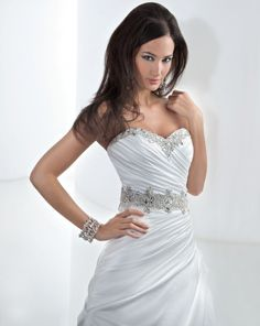 Enter to win this crystal beaded wedding gown from Demetrios! Click the image for details! #giveaways