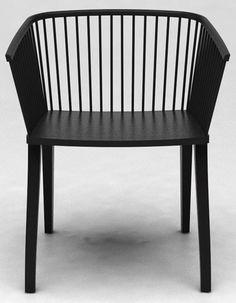 Modern interpretation of a traditional chair by Lorenz Kaz for Cole.