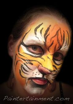 Tiger face #face #paint #facepainting #tiger