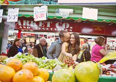 Adorable supermarket engagement photos!