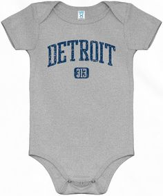 Baby Detroit One Piece  Area Code 313  4 Colors  by smashtransit, $20.00