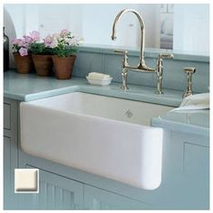 Rohl, RC3018, Single Bowl Kitchen Sink, Rohl Rc3018 30 Handcrafted Single Basin Fireclay Apron Front Farmhouse Kitchen Sink From The Shaws Original Series