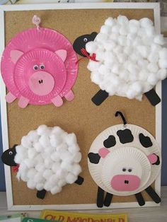 Paper Plate Farm animals--- So fun to do with kids!