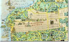 1927 tourist map highlights neighborhood landmarks   Richmond SF Blog