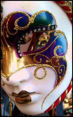 colorful mardi gras mask