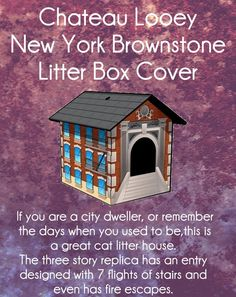 Chateau Looey New York Brownstone Litter Box Cover - Price: $35.00 #catlitterboxfurniture #cat #litter #box #furniture http://www.catbedandtoy.com/cat-litter-box-furniture