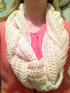 braided crochet scarf, very pretty any want to be all cozy in it
