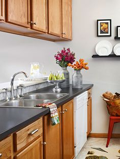 Kitchen black counters dislike the cabinets but love the counters