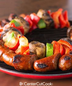 Grilled Sausage Kabob Recipes | Grilled Chicken Sausage Kabobs Recipe