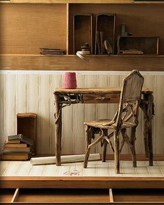 Rustic Branch Desk and Chair