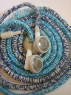 Wrapped earbuds