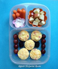 Lunch Made Easy: MOMables Monday - Freezer Stash  GF Italian Mini Quiches Bento  @EasyLunchboxes   Gluten, Nut, & Peanut Free Lunchbox Idea for kids