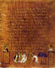 The Sinope Gospels (Paris, Bibliothèque Nationale, MS gr. 1286, also known as the Codex Sinopensis) is a fragment of a 6th century illuminated Greek Gospel Book.