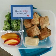 Toasted Raviolis from @momables cookbook packed for lunch | with @EasyLunchboxes containers