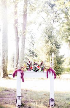 wedding altar, photo by Reverie Supply http://ruffledblog.com/west-nyack-wedding-inspiration #ceremony #altars #weddingceremony