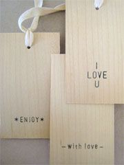 wood grain tags. maybe photog packaging idea.