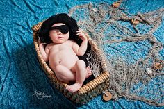 Custom Order Crochet Pirate Hat with eyepatch sz nb $24  Newborn and Baby Photography props #Snipits #Snipitsink #KradixPhotography