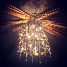 Chandelier I made for my sons school dance.