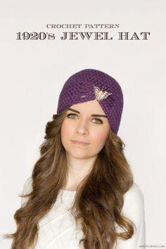 #Crochet flapper hat free pattern from Hopeful Honey
