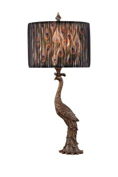 Peacock Ceramic Table Lamp