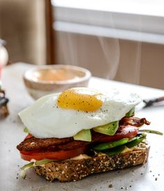 avocado blt + fried egg