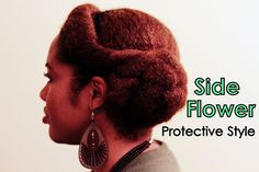 Naturally Michy | Side Flower | Protective Style for Natural Hair