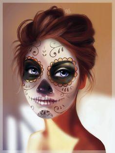 Dia de muertos #catrina #diademuertos #art