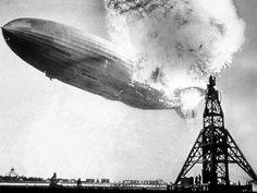 Hindenburg.  Lakehurst, New Jersey on May 6, 1937.