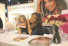 Thalia no lançamento do seu livro de beleza =D