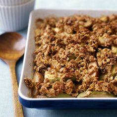 Our two-fruit crisp is the ultimate treat. Leave the fruit peels on or off, it's up to you. #recipe #WWLoves