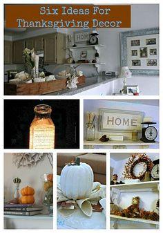 Six Ideas for Thanksgiving Decor