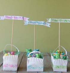 Washi Tape Easter crafts ...love these Easter baskets made from a paper plate.