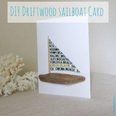 DIY Driftwood Sailboat Card.