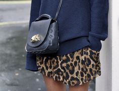 the navy + leopard