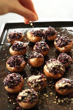 7 Ingredient Stuffed Mushrooms! #vegan #glutenfree