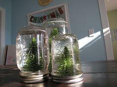 Mason Jar Snow Globes.   I actually got them made before christmas!