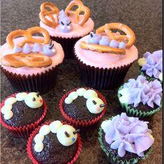 Butterflies n caterpillars cupcakes