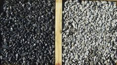 Rotomill is a recycled product that compacts and works like gravel, but looks like asphalt for driveways / landscaping