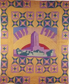 Century of Progress Quilt, 1933. Made by Aurora See Dyer. Chicago, Illinois.