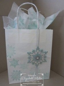 Stampin Up Festive Flurry snowflake gift bag